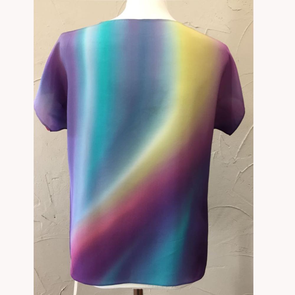 Шелковая блузка батик