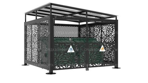 Навес для мусорных контейнеров NVS0026