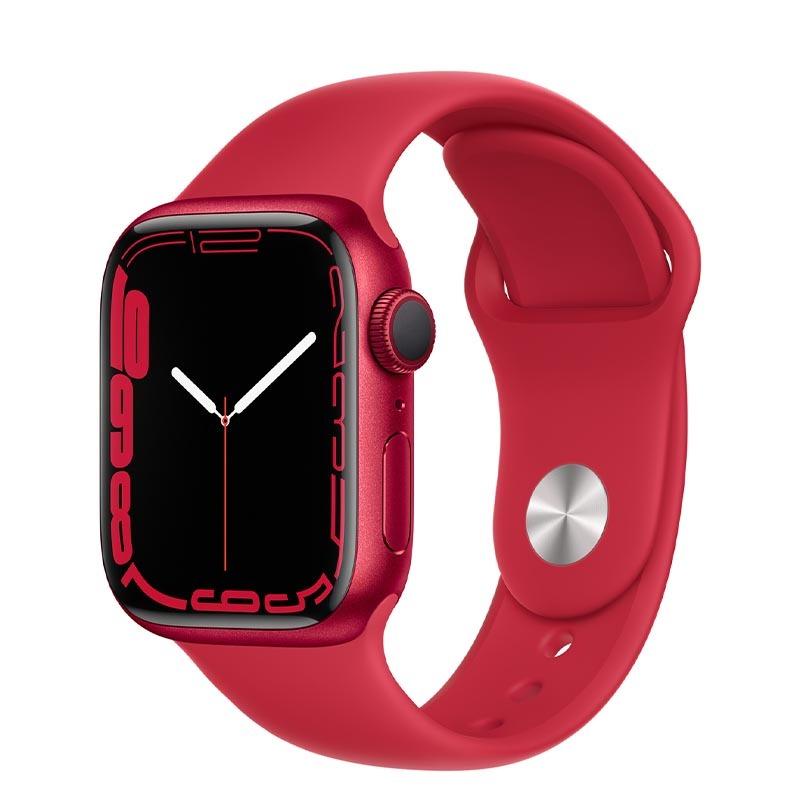Apple Watch Series 7, GPS, 41 мм, корпус из алюминия красного цвета, спортивный ремешок (PRODUCT)RED