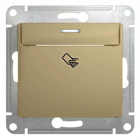 Карточный выключатель. Цвет Титан. Schneider Electric Glossa. GSL000469