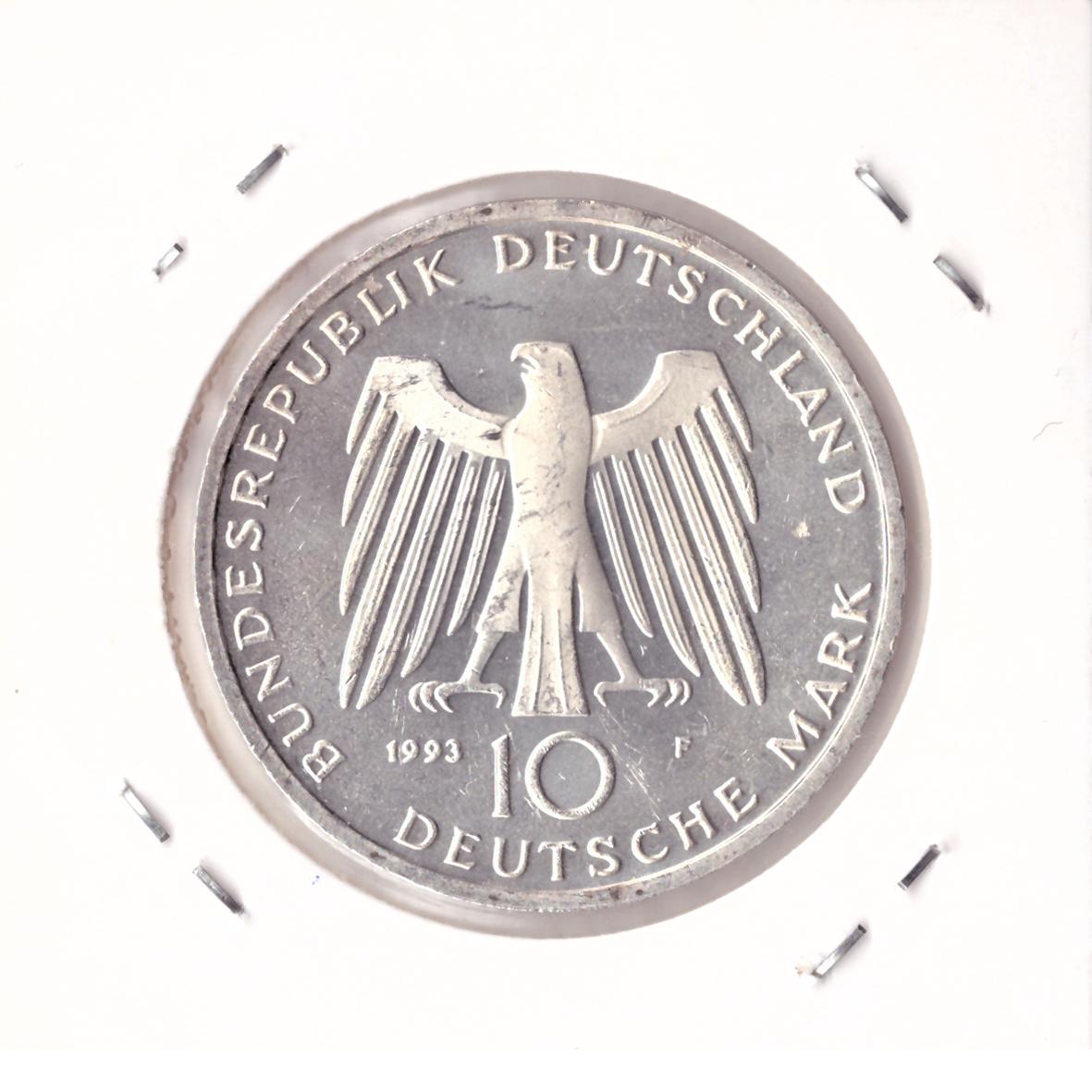 10 марок 1993 год (F) 1000 лет городу Потсдам, Германия. AU