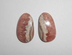 Родохрозит 19 x 11 мм кабошон, пара