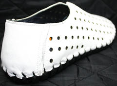 Мокасины мужские летние Luciano Bellini 107704 White.