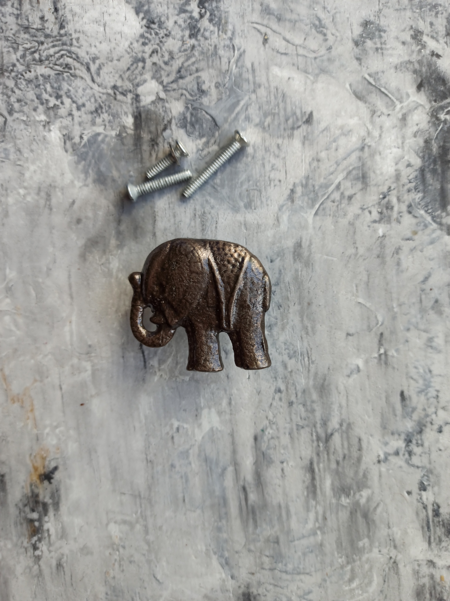 Ручка мебельная металлическая - слон, арт. 0008031