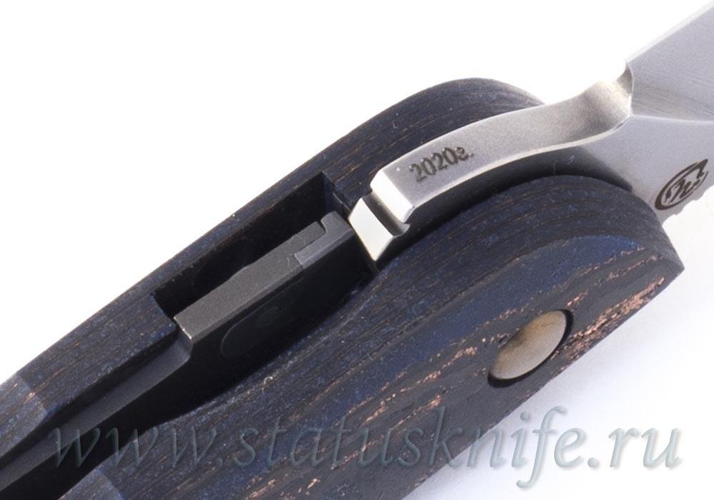 Нож Чебуркова Кобра Cobra vanadis 8 Carboquartz Blue - фотография