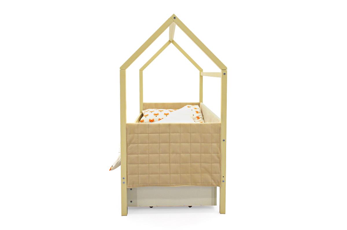 Кровать-домик мягкий «Svogen бежевый»