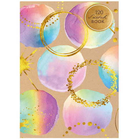 Скетчбук блокнот для рисования с листами 3-х цветов