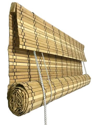 Рулонные римские шторы из натурального бамбука 90 х 160 см