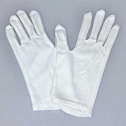 Перчатки для официантов белые (12 пар)