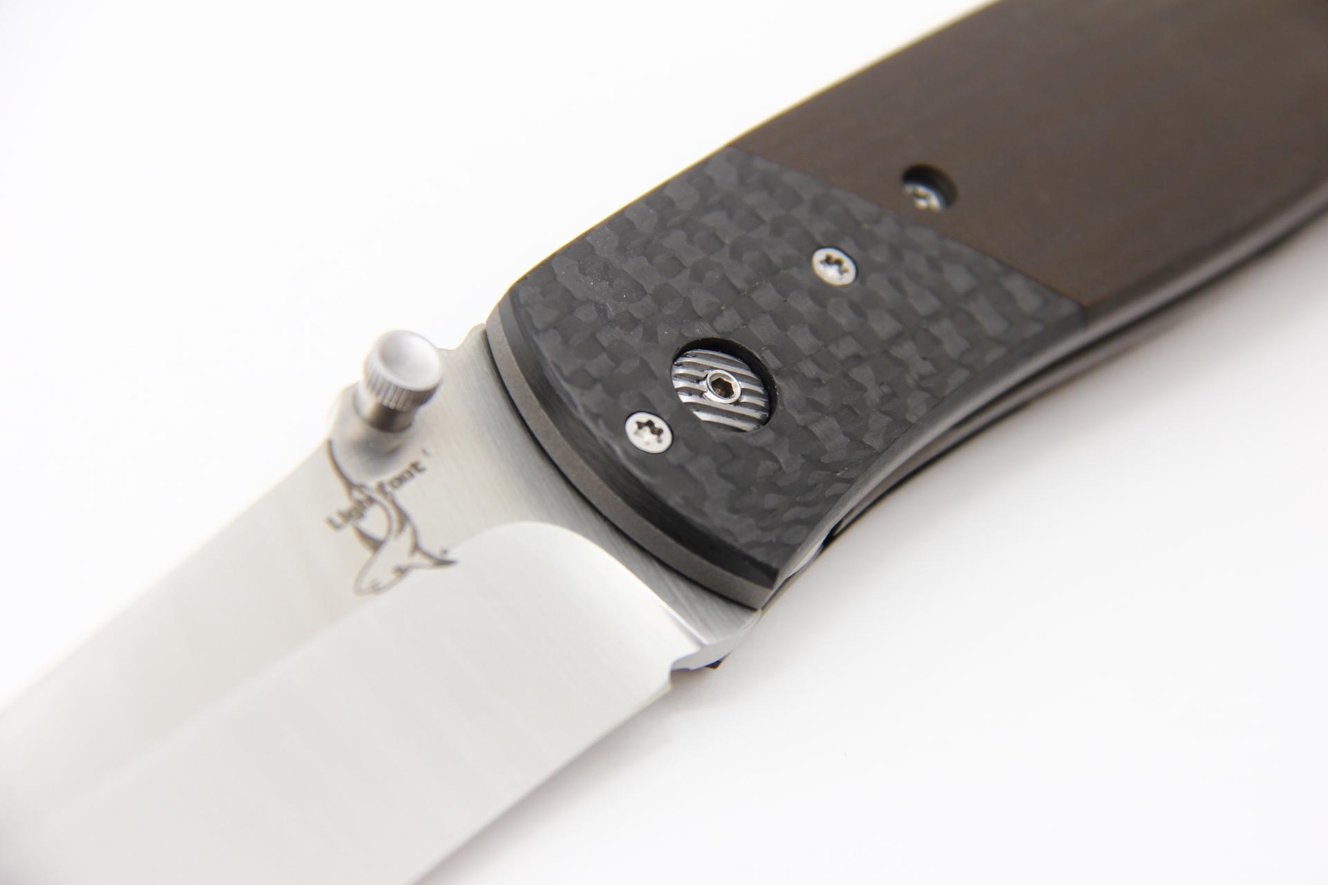 Нож Lightfoot 458 Magnum BG42 карбон Ограниченный выпуск - фотография