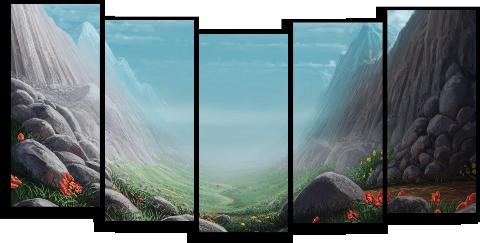 """Природа Модульная картина """"На скальной арке"""" М347.png"""