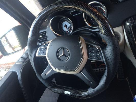 Карбоновые вставки в руль для Mercedes G-class