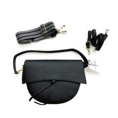 Laura (Black) / Лаура (Черный) сумка с тремя ремнями