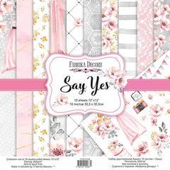 Набор скрапбумаги Say Yes 30,5x30,5 см 10 листов
