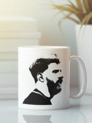 Кружка с изображением Лионель Месси (Lionel Messi) белая 004