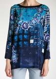 Блуза из шелка ALBERTA FERRETTI