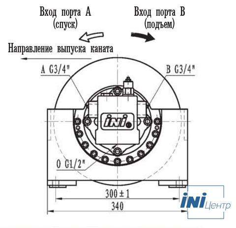 Эвакуационная лебедка IYJ2-6-300-7-ZPNF
