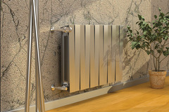 Радиатор биметаллический Royal Thermo PianoForte Silver Satin (серебристый)  - 10 секций