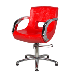 Парикмахерское кресло МД-2203 (Алекс) гидравлика хром, пятилучье хром на подпятниках