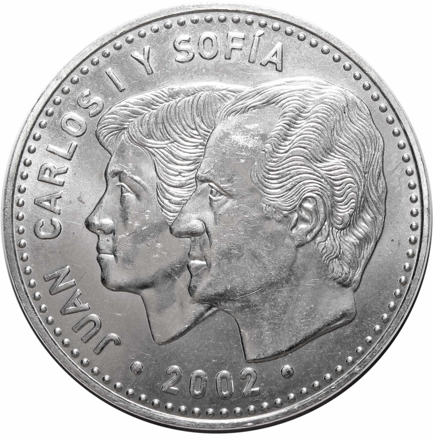 12 евро. Председательство Испании в ЕС. Испания. Серебро. 2002 г. AU