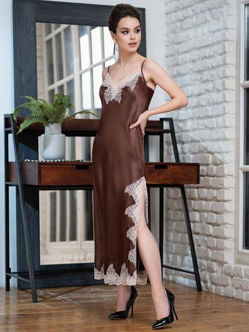 Сорочка женская шелковая MIA-Amore  MARILIN  Мэрилин  3104 шоколад