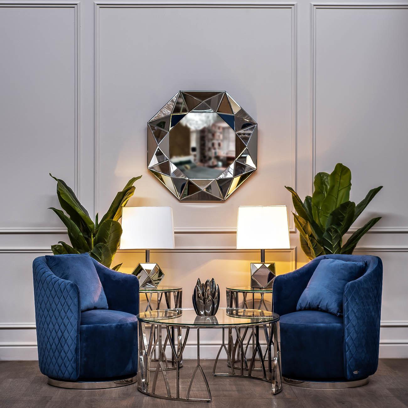 Кресла вращающиеся темно-синии велюровые (48MY-2573 DBL) Garda Decor