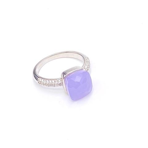 33314 - Кольцо Caramel из серебра с кварцем цвета лаванды