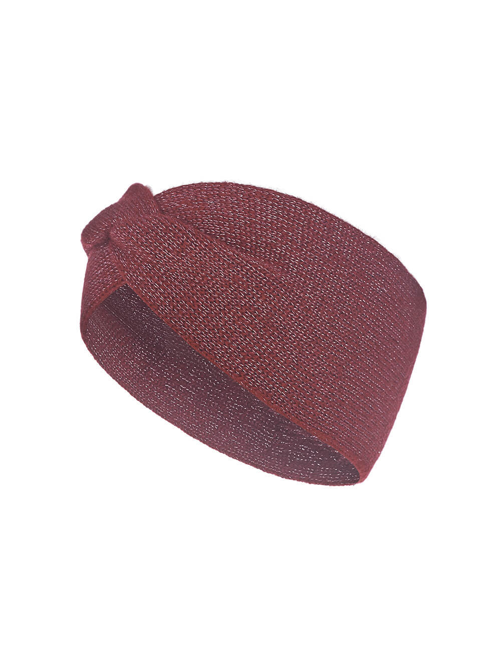 Женская повязка на голову красного цвета из кашемира - фото 1