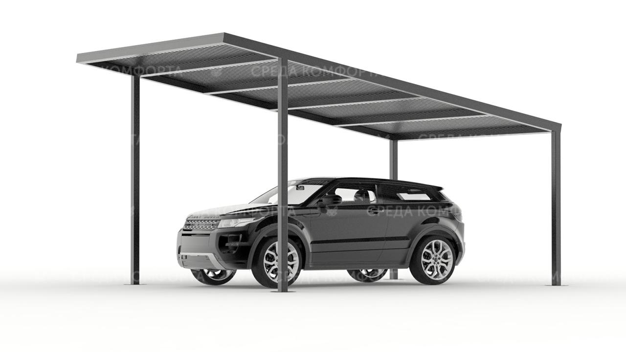 Навес для автомобиля односкатный (длина 6 метров) AVNVS0026