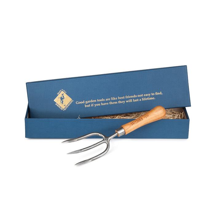 Вилка садовая прополочная в подарочной коробке Sneeboer, круглый зуб