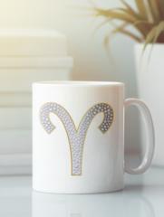 Кружка с изображением Знаки Зодиака, Овен (Гороскоп, horoscope) белая 005