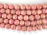 Нить бусин из родохрозита, шар гладкий 8 мм