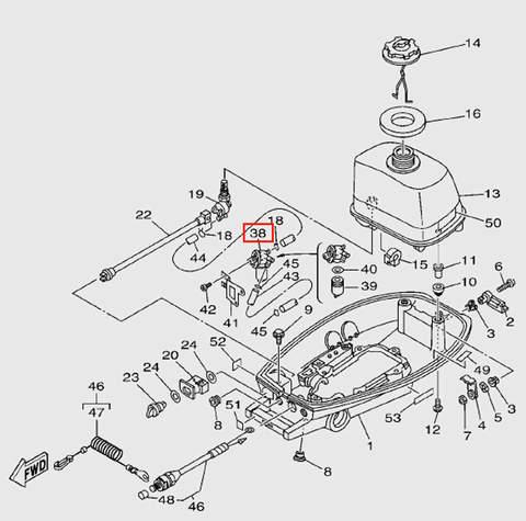 Топливный фильтр в сборе для лодочного мотора T5 Sea-PRO (7-38)