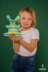 Подушка-игрушка антистресс Gekoko «Зая Полосатый зеленый» 1