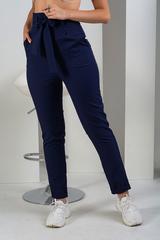 Стильні брюки з високою талією. Синій