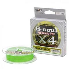 Плетёный шнур YGK G-Soul PE X4 Upgrade 150m #0.6/12lb Green
