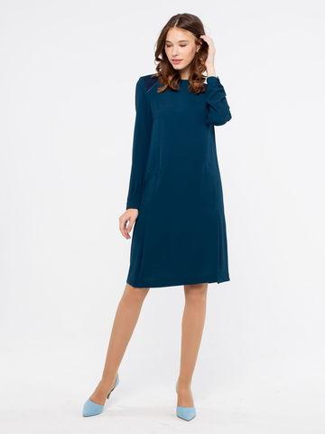 Фото повседневное платье прямого кроя с разрезами и карманами - Платье З121-539 (1)