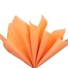 Бумага тишью светло-оранжевая 76 х 50 см, 10 листов 28 г/м