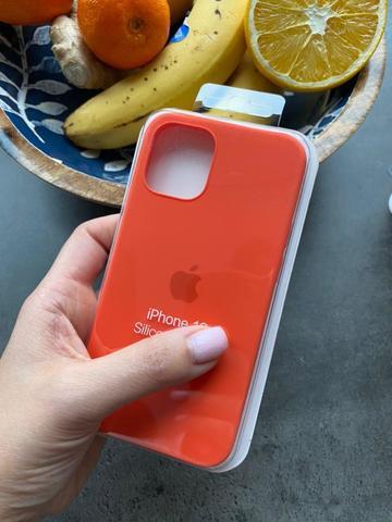 Чехол iPhone 12 (6,1) Silicone Case Full /orange/