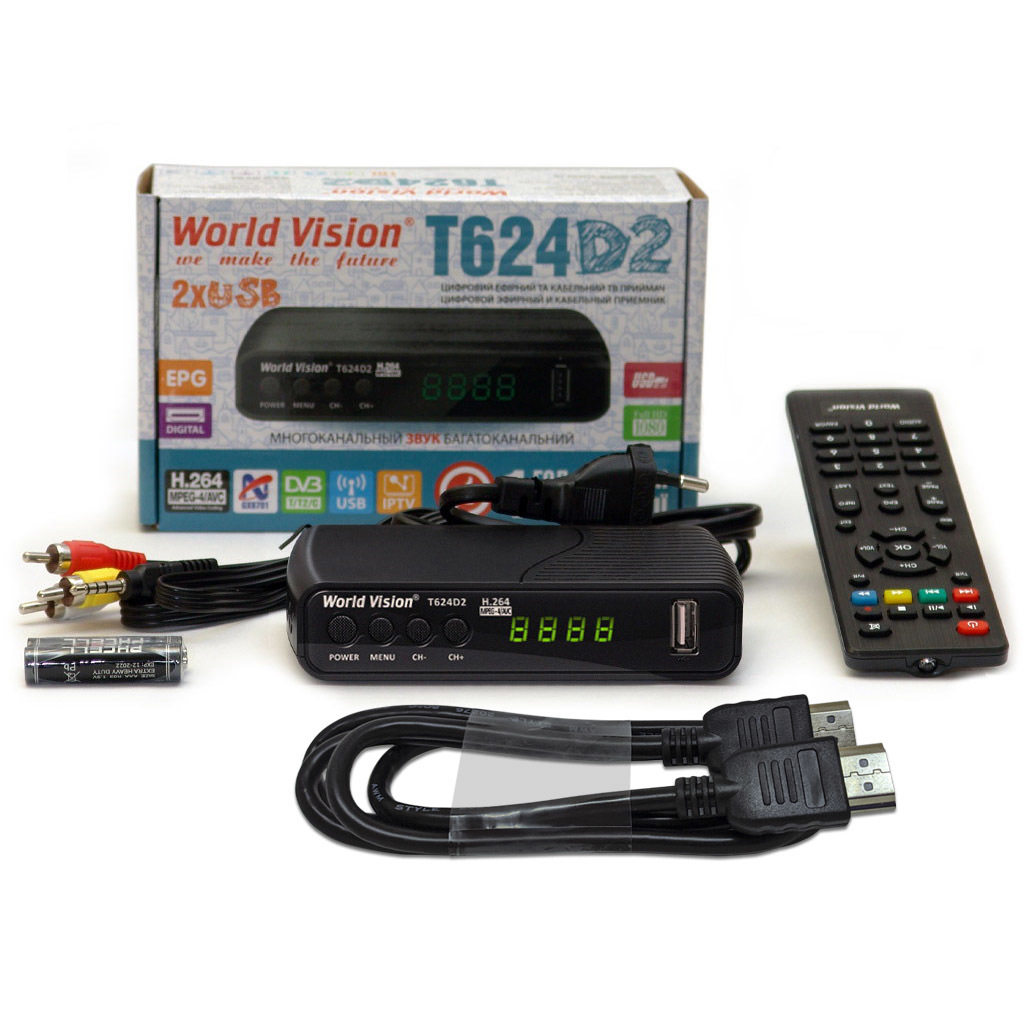World Vision T624D2 + HDMI