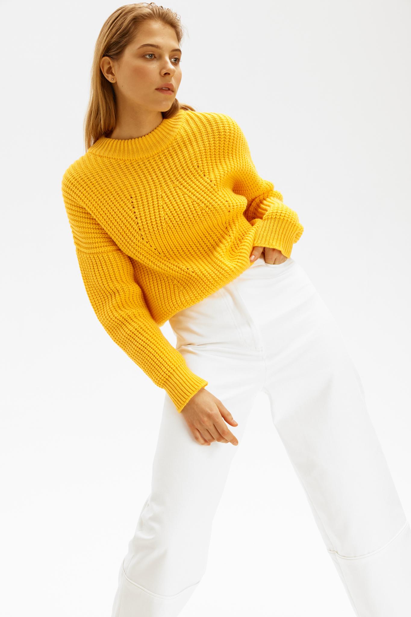 Укороченный свитер объемной вязки (SS0279)