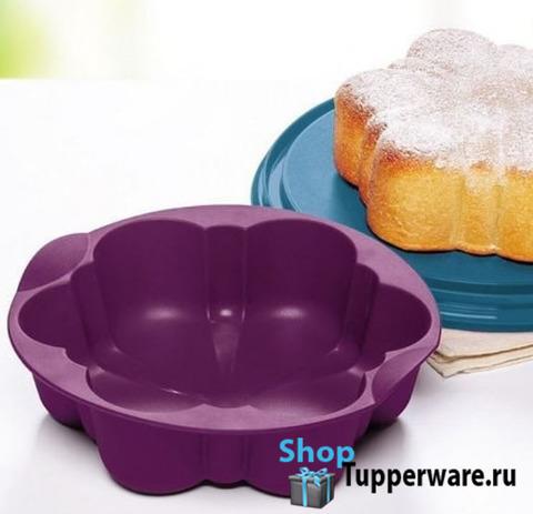 силиконовая форма цветок в фиолетовом цвете Tupperware