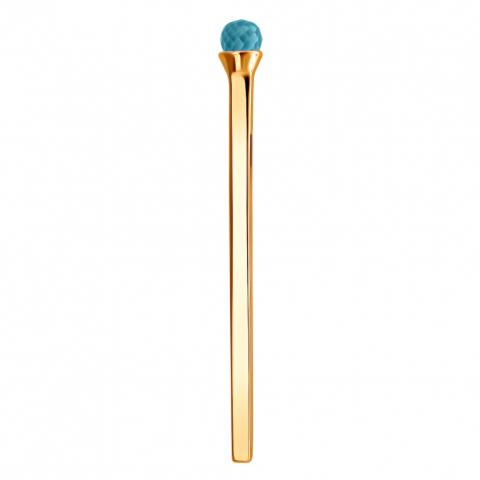 01П313558-3 Подвеска спичка с топазом из золота 585 пробы