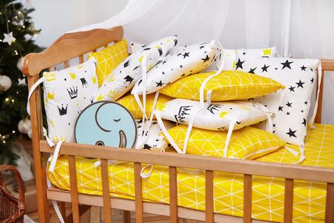 Бортики-защита в кроватку из сатина от комплекта Верона Короны