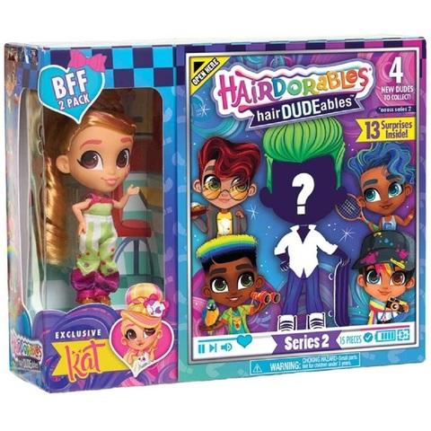 Кукла-сюрприз HairDUDEables 2 серия Мальчик и Кэт