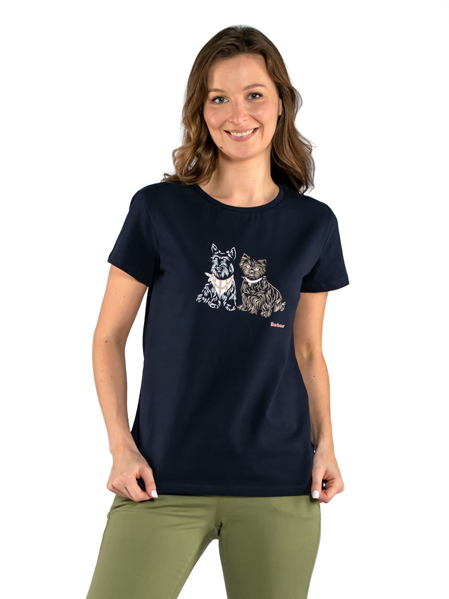 Barbour футболка Highlands Tee LTS0486/NY73