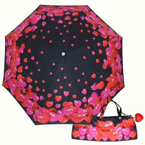Зонт складной Moschino Boutique 7275-A-RUBBER HERTS