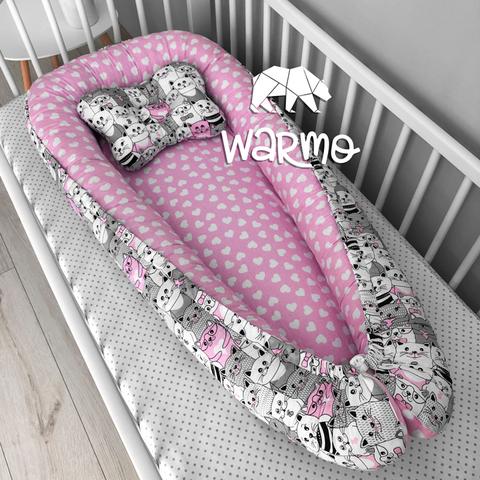 Кокон (гнездышко) для новорожденных Warmo™ РОЗОВЫЕ КОТИКИ