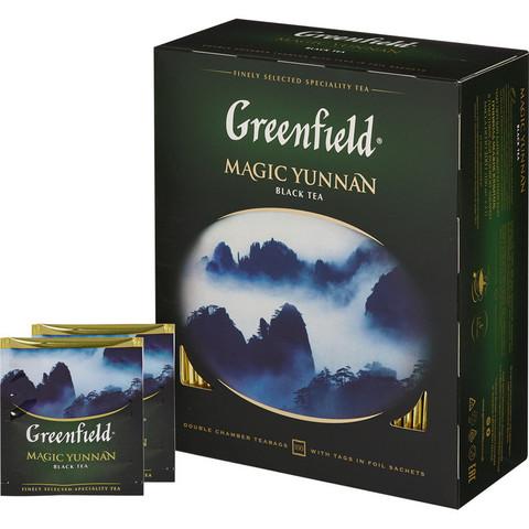 Чай Greenfield Magic Yunnan черный 100 пакетиков