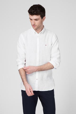 Мужская белая льняная рубашка Tommy Hilfiger